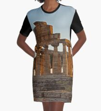 Greek Ancient Ruins (Temple)  Graphic T-Shirt Dress