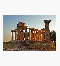 Greek Ancient Ruins (Temple)  Photographic Print