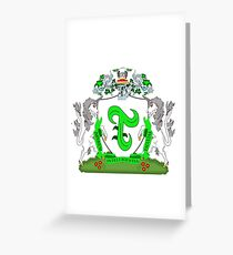 Triplet Coat of Arms Greeting Card
