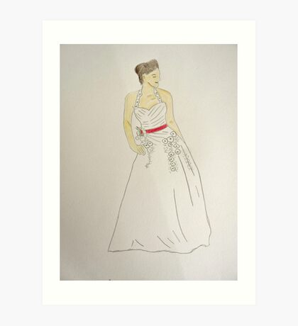 Wedding Dress No 5 Art Print