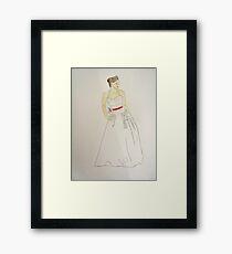 Wedding Dress No 5 Framed Print