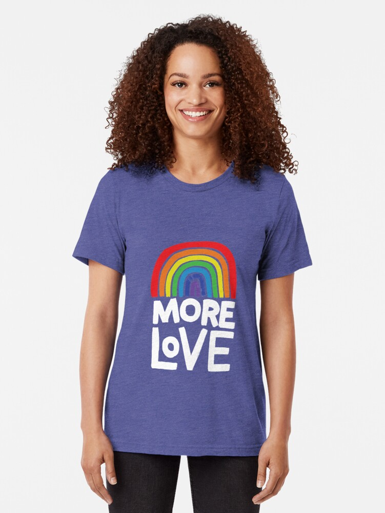 Alternate view of more love Tri-blend T-Shirt