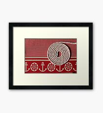 durable rope round spiral  Framed Print