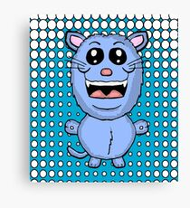 Funny Blue Cat  Canvas Print