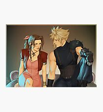 Cloud and Aerith Photographic Print