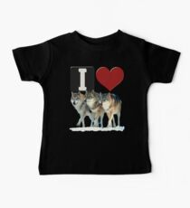 I LOVE WOLVES Baby Tee