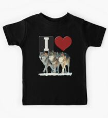 I LOVE WOLVES Kids Clothes