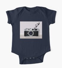 vintage camera and birds Kids Clothes