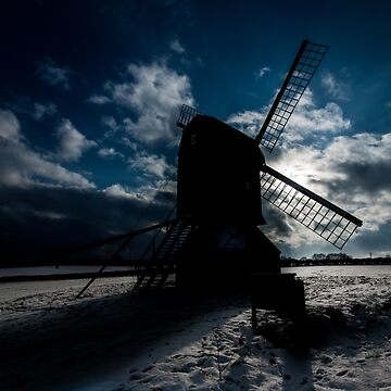 Winter Windmill by asabphotography
