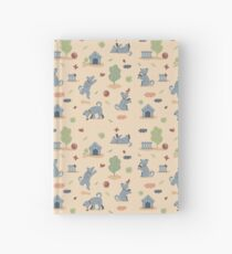 Pattern of funny dogs  Hardcover Journal