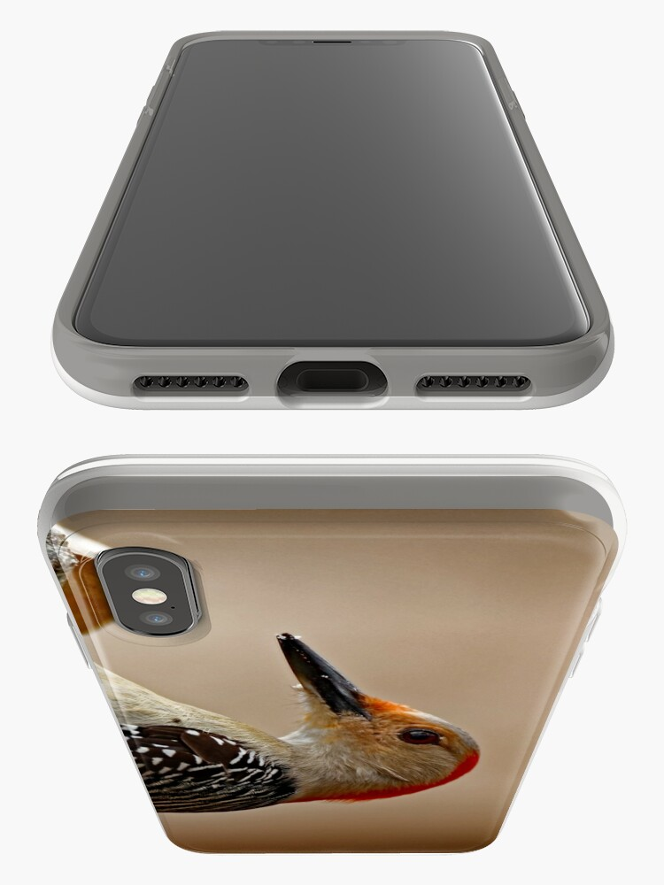 Alternate view of Red-Bellied Woodpecker on a Feeder iPhone Case & Cover