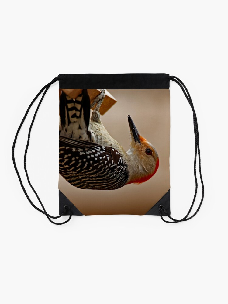 Alternate view of Red-Bellied Woodpecker on a Feeder Drawstring Bag