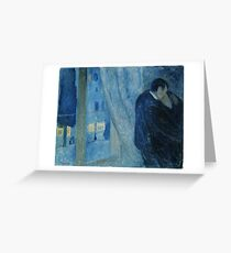 Edvard Munch - Kiss by the window / Kyss ved vinduet (1892) Greeting Card