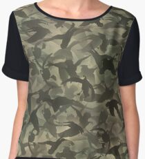 Duck hunt camouflage Women's Chiffon Top