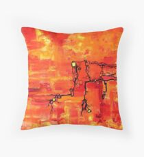 Dendritic Echoes Throw Pillow
