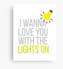 Lights On 001 Canvas Print