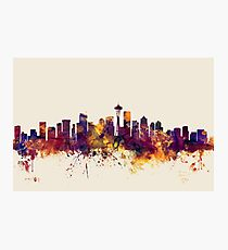 Seattle Washington Skyline Photographic Print