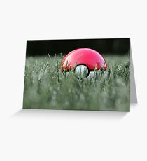 Pokeball in Grass Greeting Card