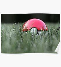 Pokeball in Grass Poster