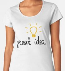 great idea. doodle lettering for invitations, greeting cards, prints, posters Women's Premium T-Shirt