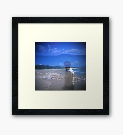 By the Sea shore Framed Print