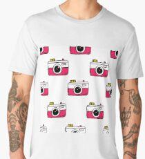 camera seamless doodle pattern Men's Premium T-Shirt