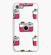 camera seamless doodle pattern iPhone Case/Skin