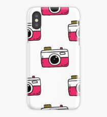 camera seamless doodle pattern iPhone Case/Skin
