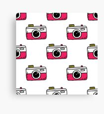 camera seamless doodle pattern Canvas Print