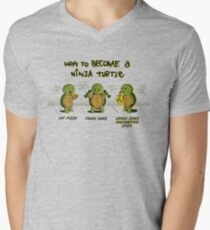 Become a Ninja Turtle Men's V-Neck T-Shirt