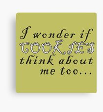 Thinking about cookies Canvas Print