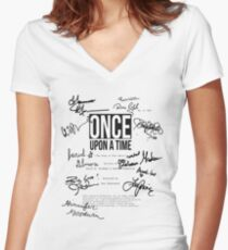 ouat script 620 Women's Fitted V-Neck T-Shirt