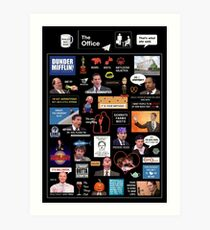 The Office US Montage Art Print