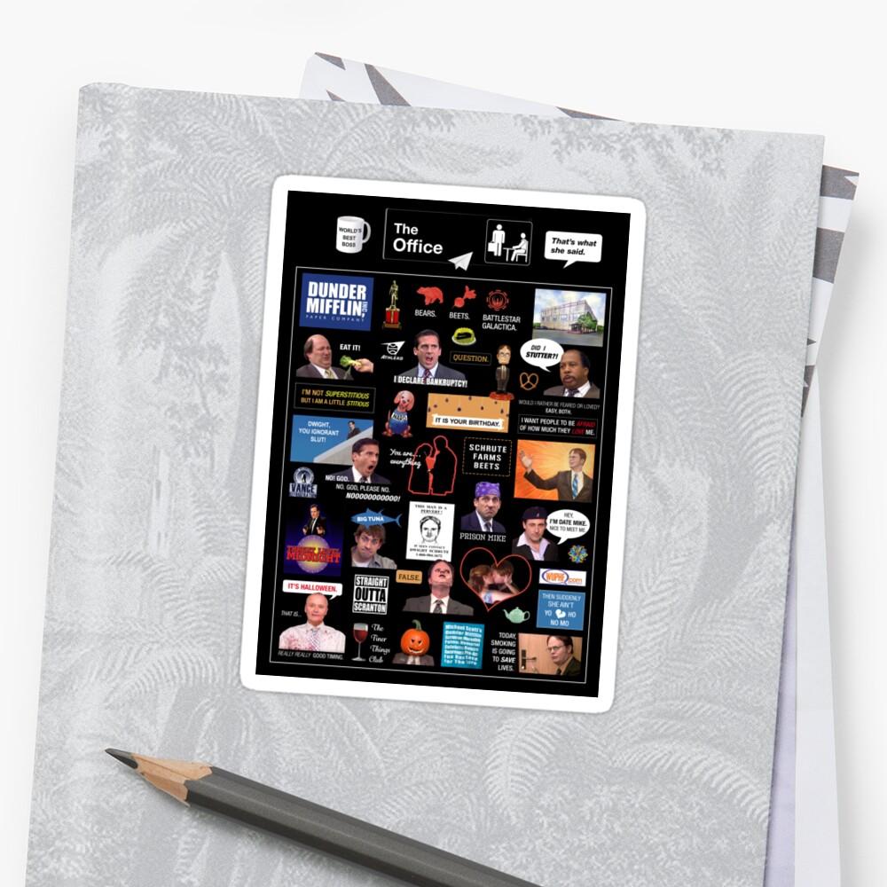 Das Büro US-Montage Sticker
