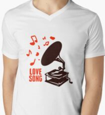 music Men's V-Neck T-Shirt