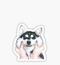 Smiley Husky Sticker