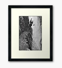Sydney Paget - Fantastic print from Sherlock Holmes The Final Problem / Reichenbach Falls Framed Print