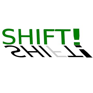 Shift message mugs by Erme