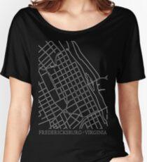 Fredericksburg City Grid Women's Relaxed Fit T-Shirt