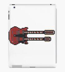 Pixel Big Red Double Neck Guitar iPad Case/Skin