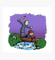 Freddy and Jason Parody mash up Photographic Print