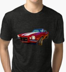 1971 Z28 Camaro Watercolour Tri-blend T-Shirt