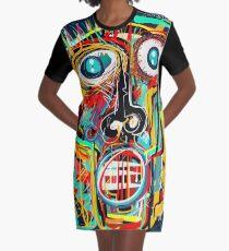 The Scream Street Art Graffiti Graphic T-Shirt Dress