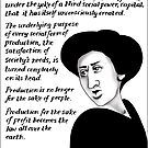 Production for the sake of profit becomes the law all over the earth. by CartoonKate