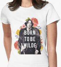 born to be wilde Women's Fitted T-Shirt