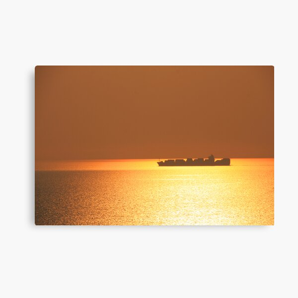 On a golden sea Canvas Print