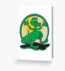 Reptile Rock Greeting Card