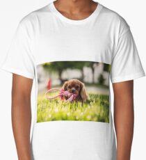 Puppy Playing Long T-Shirt