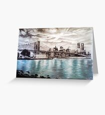 Bridge at Manhattan Greeting Card