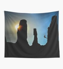 Rock Climbing (Mountaineering) Wall Tapestry